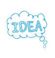 idea text on bubble speech vector image vector image
