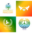 international day peace poster vector image vector image