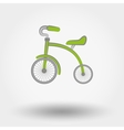 Kids Tricycle flat icon vector image vector image