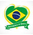 love brazil flag independencia do brasil banner vector image vector image