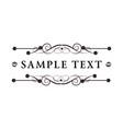 luxury floral decorative logo boutique hotel vector image vector image