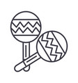 maracas line icon sign on vector image vector image