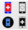 medical mobile app eps icon with contour vector image vector image