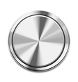 Metal Button Icon vector image vector image