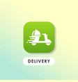 modern food order delivery icon design vector image