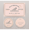 Nautical message in the bottle wedding invitation vector image vector image