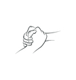 Outline of a firm helping rescuing handshake vector image