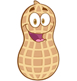 Peanut Cartoon Mascot Character vector image