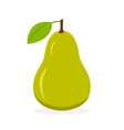 pear fruit icon isolated fruits and vegetables vector image vector image