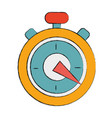 pocket clock to delivery pack at time vector image vector image