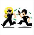 police vs thief vector image vector image