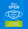 poster for opening business vector image vector image