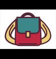 school rucksack or pupils satchel bag vector image