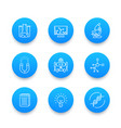 science line icons laboratory chemistry vector image vector image