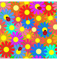 Seamless flower texture vector image vector image