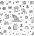 Seamless pattern with black snowflakes and