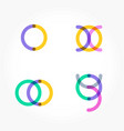 set of minimal geometric multicolor shapes trendy vector image vector image