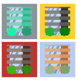 set of modern multi-storey building with a vector image vector image