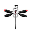 silhouette a dragonfly vector image vector image