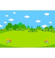 Spring lanscape beautiful vector image