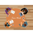 team work team work together view from top vector image vector image