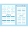 templates for calendars pocket calendars and vector image vector image