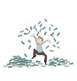 throw money1 vector image vector image