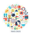 travel color cruise vector image vector image