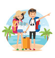 travel on the beach vector image