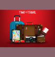 travel1time to travel journey and hiking vector image vector image