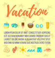 vacation postcard background concept cartoon vector image