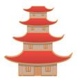 vietnam high house icon cartoon style vector image