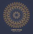 vintage geometric circular element vector image