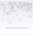 winter silver background fallen defocused vector image