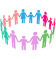 Family Diversity Social Community People vector image