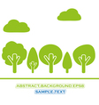 set of green tree vector image