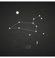 Astrology sign Leo on chalkboard background vector image