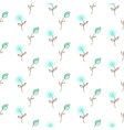 Thin blue flower pattern vector image