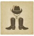 cowboy old background vector image