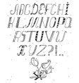 Hand drawn ABC letters isolated on white in doodle vector image