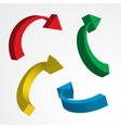 3d arrow icon vector image vector image