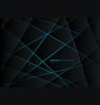 abstract black geometric polygon on blue light vector image