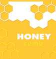 abstract honeycomb yellow pattern background vector image vector image