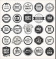 big sale retro badges and labels collection vector image vector image
