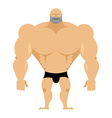 Bodybuilder on a white background Strong big man vector image vector image