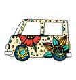 car a mini van vector image vector image