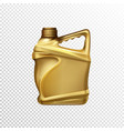 car lubricant bottle 3d realistic template vector image vector image