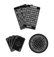casino and gambling black icons in set collection vector image vector image