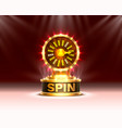 casino spin colorful fortune wheel scene vector image vector image