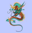 chinese dragon flat vector image vector image